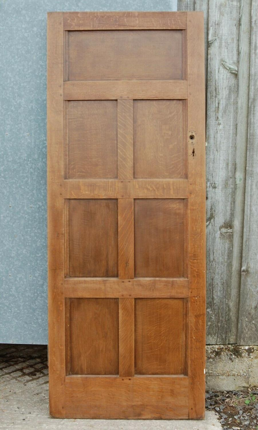 DI0686 A RECLAIMED ANTIQUE OAK AND PINE INTERNAL PANELLED DOOR