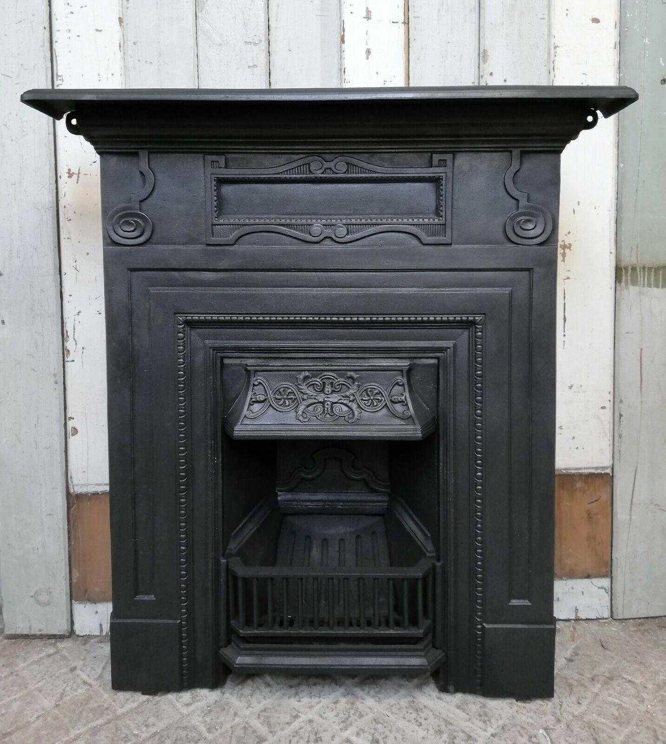 FC0058 A LARGE ATTRACTIVE VICTORIAN CAST IRON COMBINATION FIRE