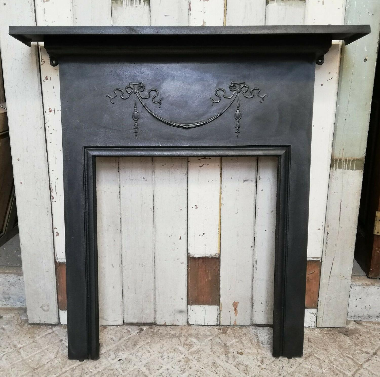 FS0075 ELEGANT VICTORIAN CAST IRON FIRE SURROUND FOR WOOD BURNER