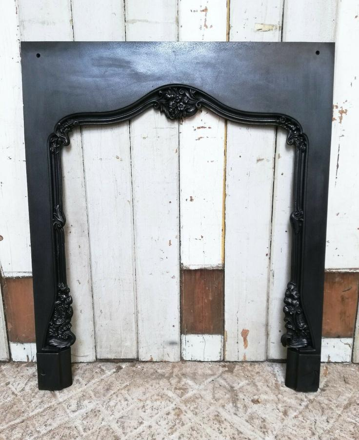 FT0015 ANTIQUE CAST IRON FIRE TRIM FOR WOOD BURNER / BASKET