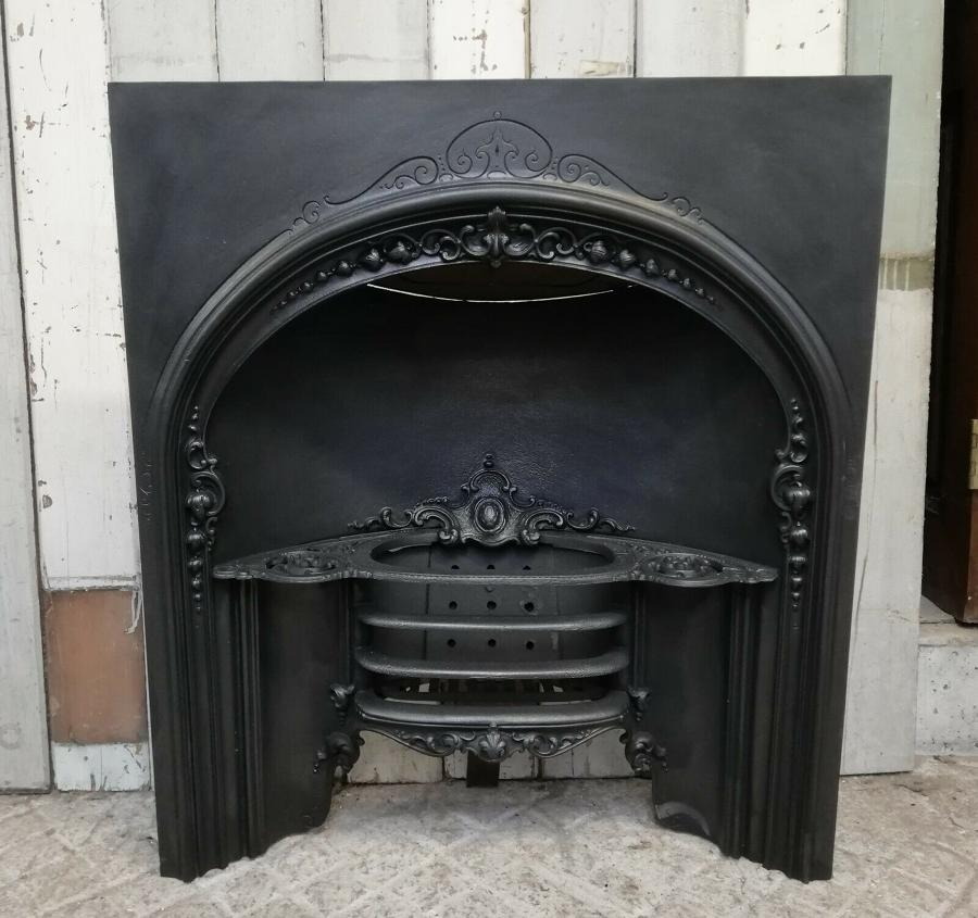 FI0037 DECORATIVE EARLY VICTORIAN CAST IRON HOB GRATE FIRE INSERT