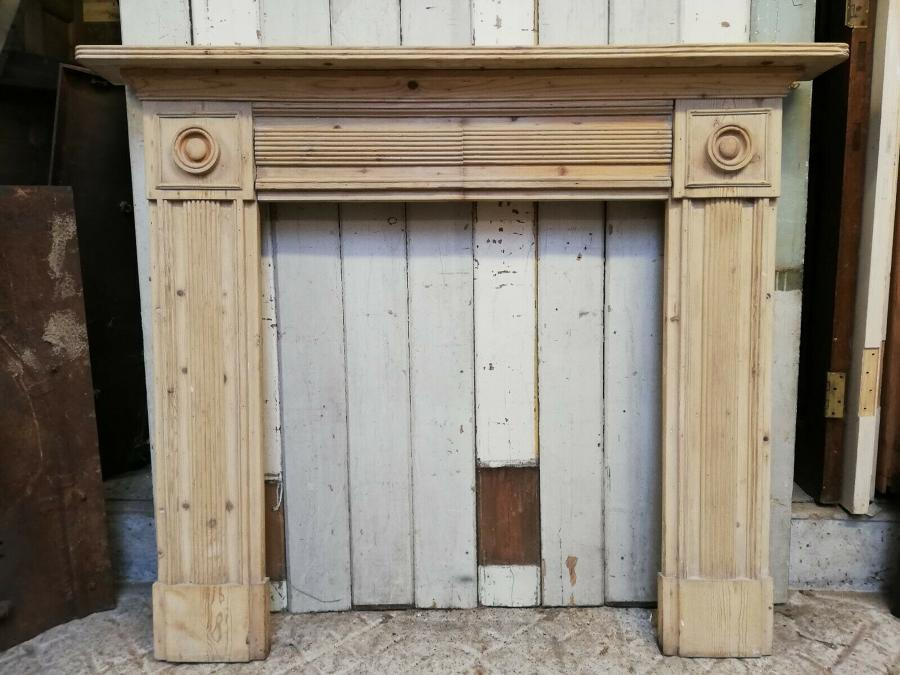 FS0078 A RECLAIMED RUSTIC STRIPPED PINE FIRE SURROUND