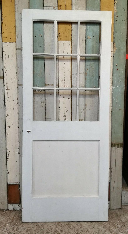 DB0661 A RECLAIMED PINE INTERNAL / EXTERNAL DOOR FOR GLAZING