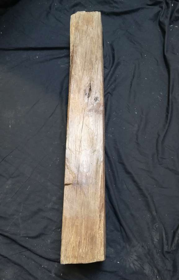 M1323 AGED RECLAIMED OAK BEAM FOR INGLENOOK FIRE OR HOME PROJECT