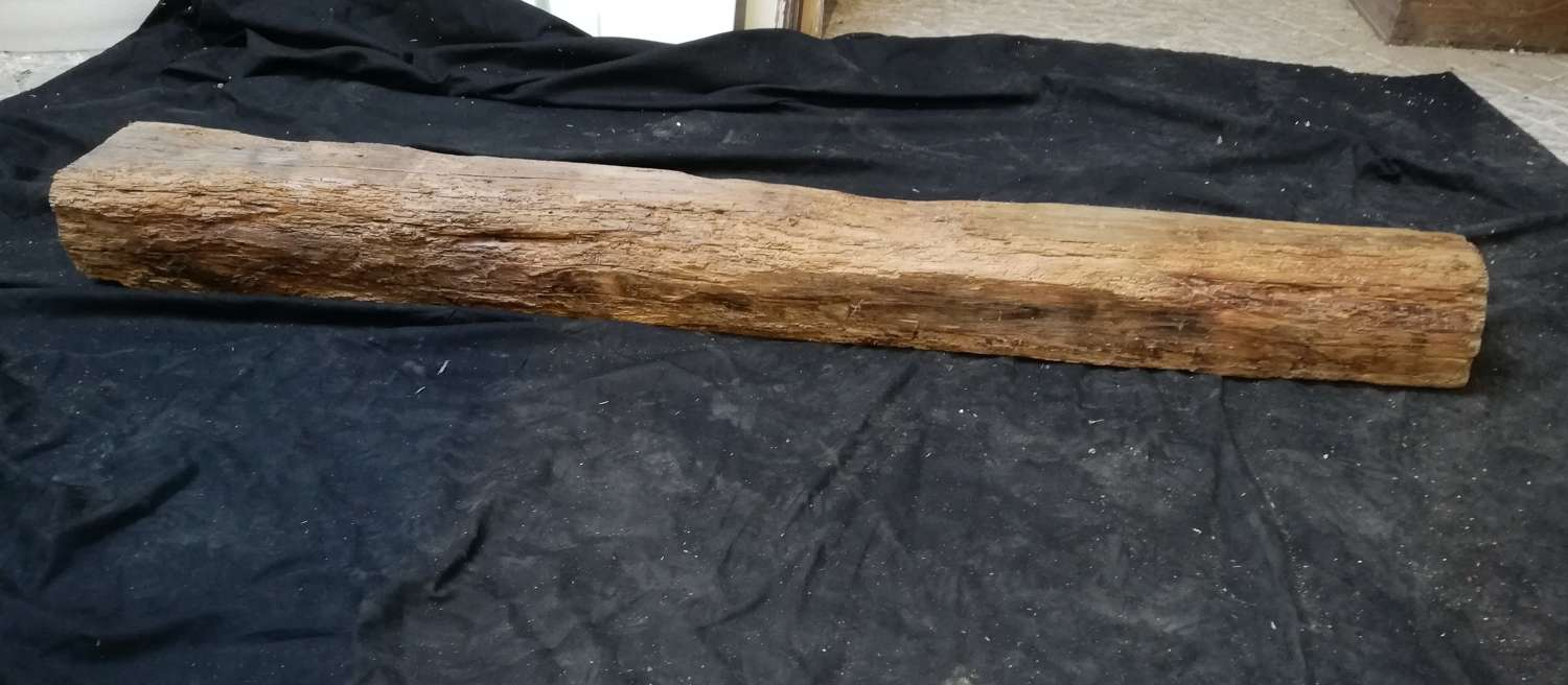 M1329 AGED RECLAIMED OAK BEAM FOR INGLENOOK FIRE OR HOME PROJECT