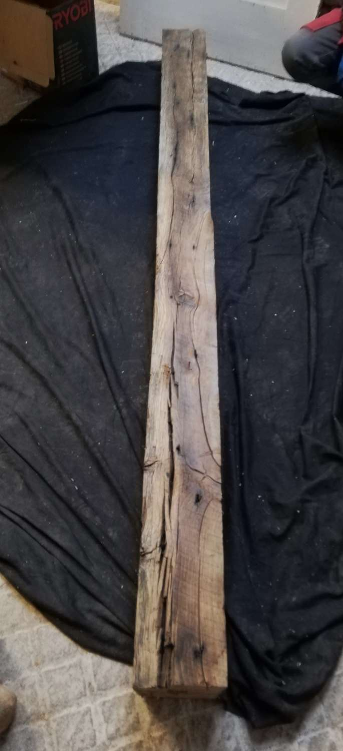 M1335 A RUSTIC AGED OAK BEAM FOR INGLENOOK FIRE OR HOME PROJECT