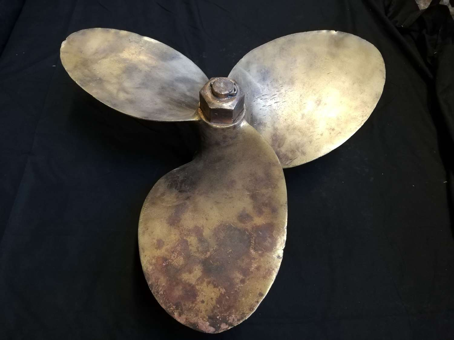 M1316 HEAVY BRONZE ANTIQUE SHIPS PROPELLER DECORATIVE DISPLAY ITEM