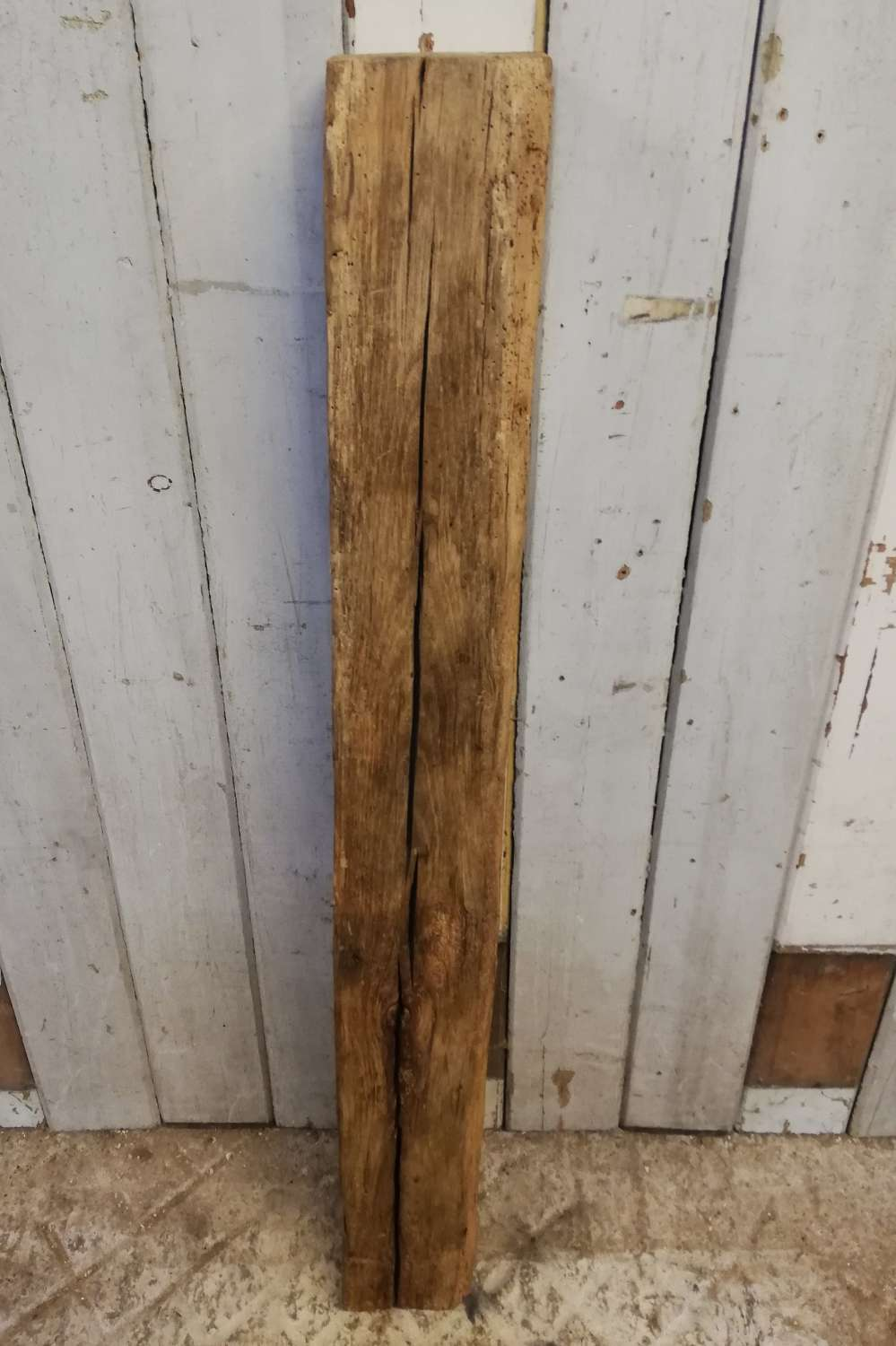 M1345 AGED WAXED OAK BEAM FOR RUSTIC PROJECT