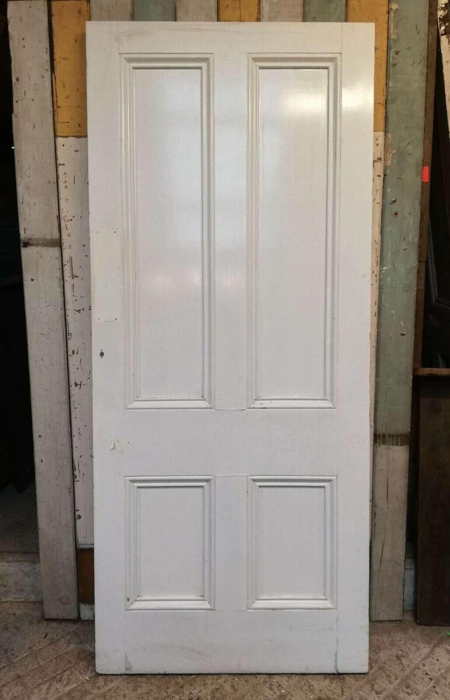 DB0666 RECLAIMED VICTORIAN STYLE 4 PANEL PINE INTERNAL EXTERNAL DOOR