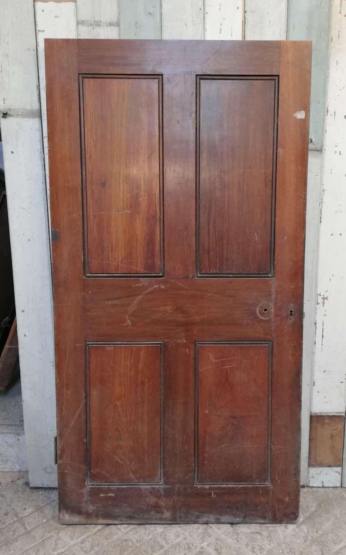 DB0667 A VERY HEAVY TEAK INTERNAL / EXTERNAL DOOR