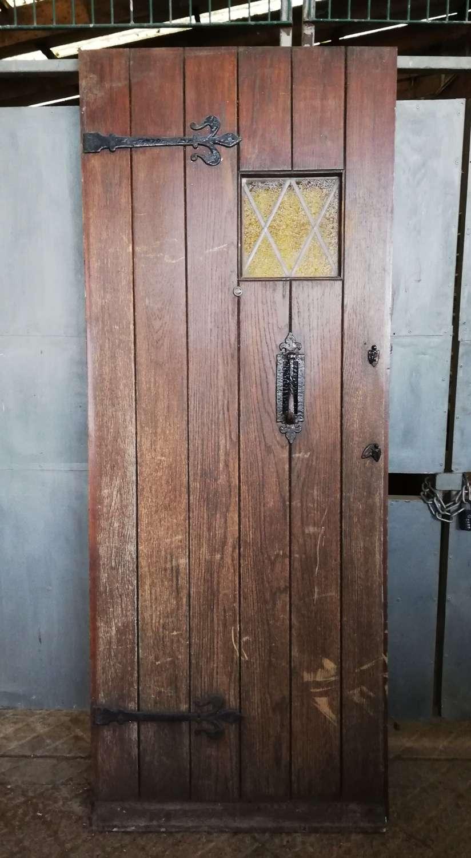 DE0836 A RECLAIMED OAK COTTAGE STYLE FRONT DOOR