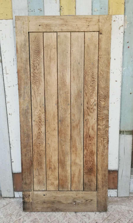 DE0838 A RECLAIMED BARE OAK PLANK FRONT DOOR