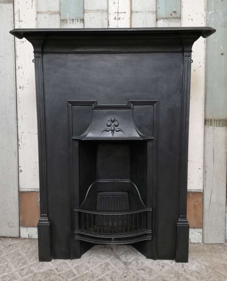 FC0075 AN ATTRACTIVE EDWARDIAN ANTIQUE CAST IRON COMBINATION FIRE