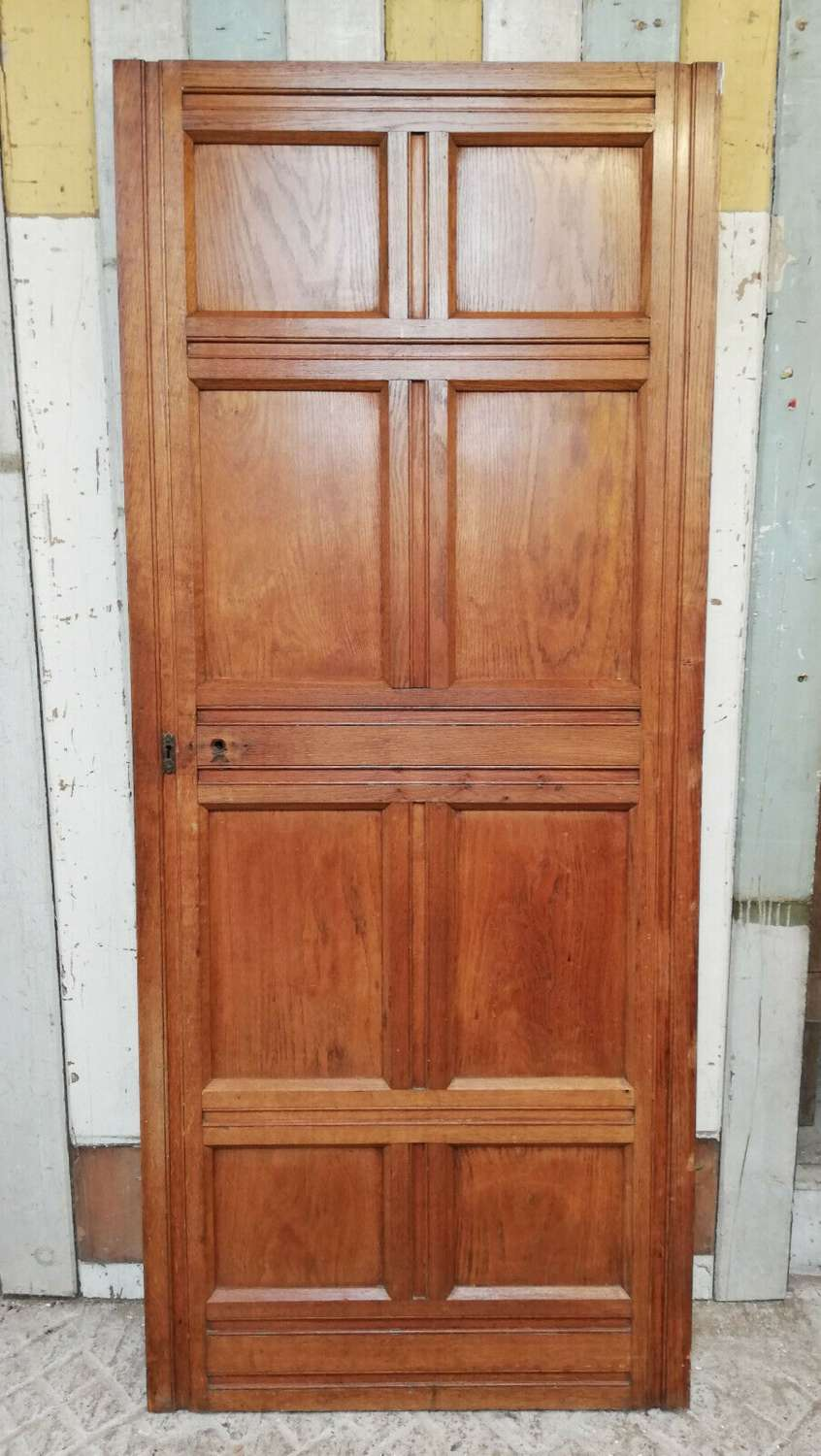 DI0706 ARTS AND CRAFTS OAK AND MAHOGANY FACED INTERNAL PINE DOOR