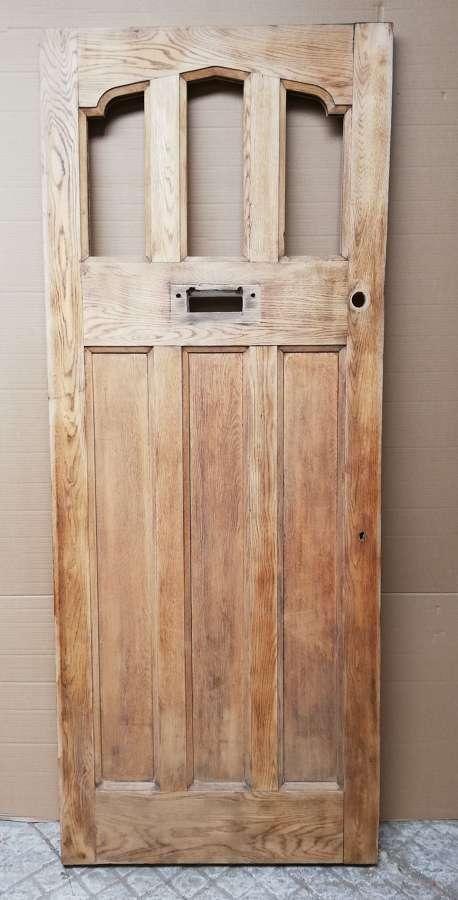 DE0854 RECLAIMED ARTS AND CRAFTS OAK FRONT DOOR