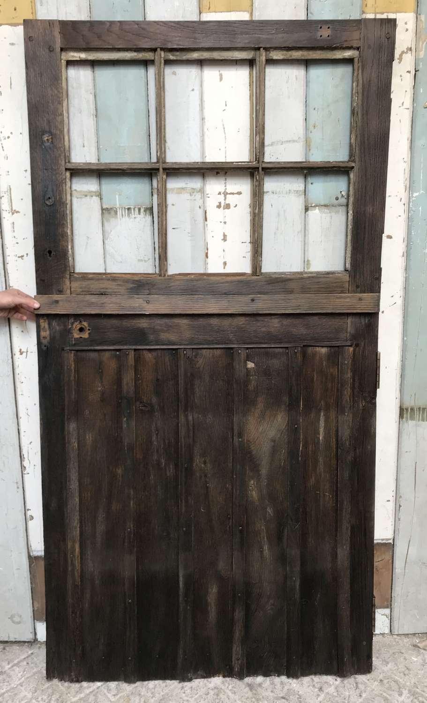 DE0852 A RUSTIC RECLAIMED OAK STABLE DOOR FOR GLAZING