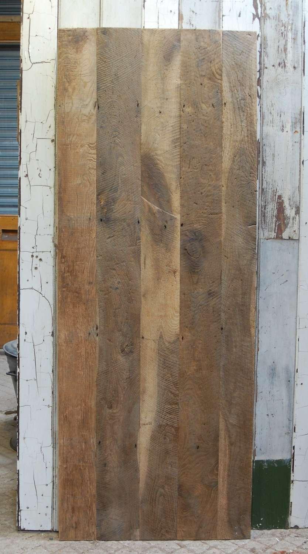 DI0713 OAK PLANK DOOR MADE USING OLD RECLAIMED FLOORBOARDS