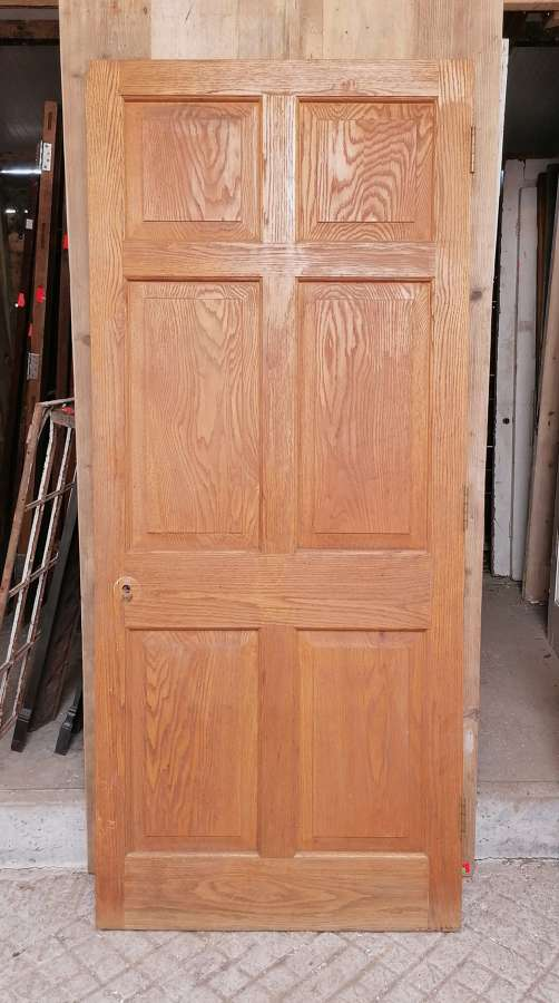 DB0675 RECLAIMED OAK 6 PANEL DOOR INTERNAL / EXTERNAL USE