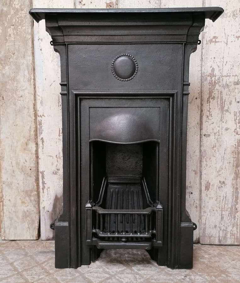 FC0090 AN ORIGINAL RECLAIMED EDWARDIAN CAST IRON COMBINATION FIRE