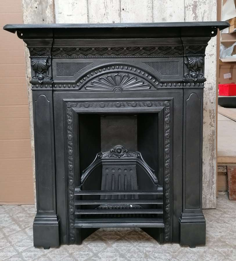 FC0092 AN ORNATE RECLAIMED VICTORIAN CAST IRON COMBINATION FIRE