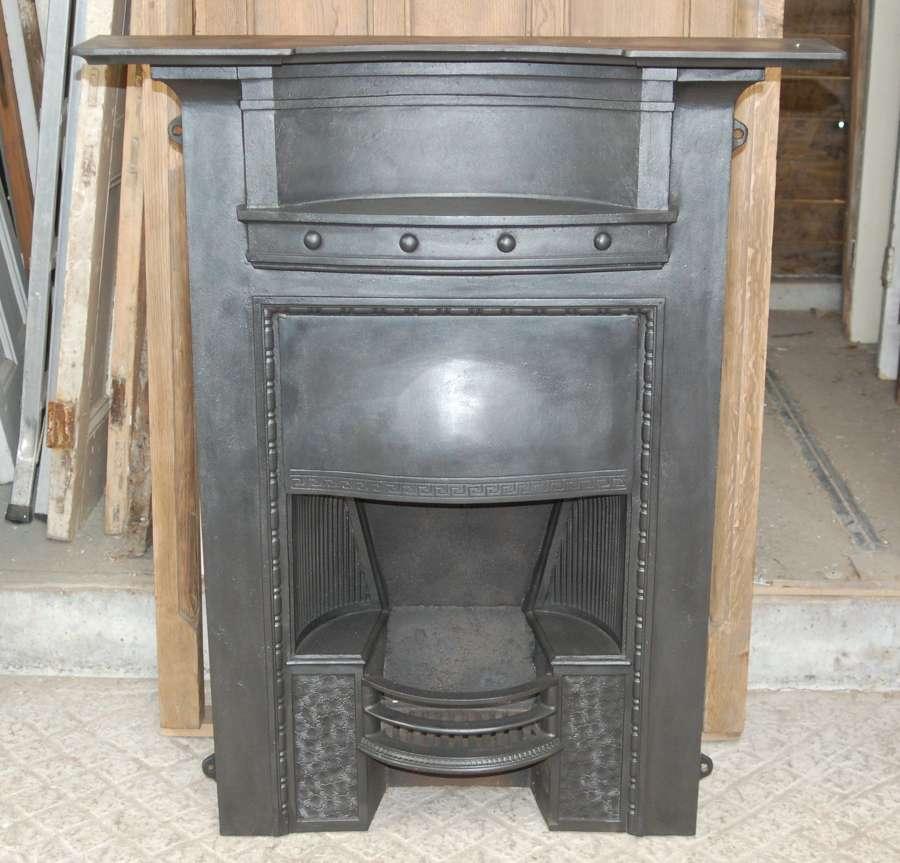 FC0089 AN ORIGINAL EDWARDIAN CAST IRON HOBGRATE STYLE COMBINATION FIRE