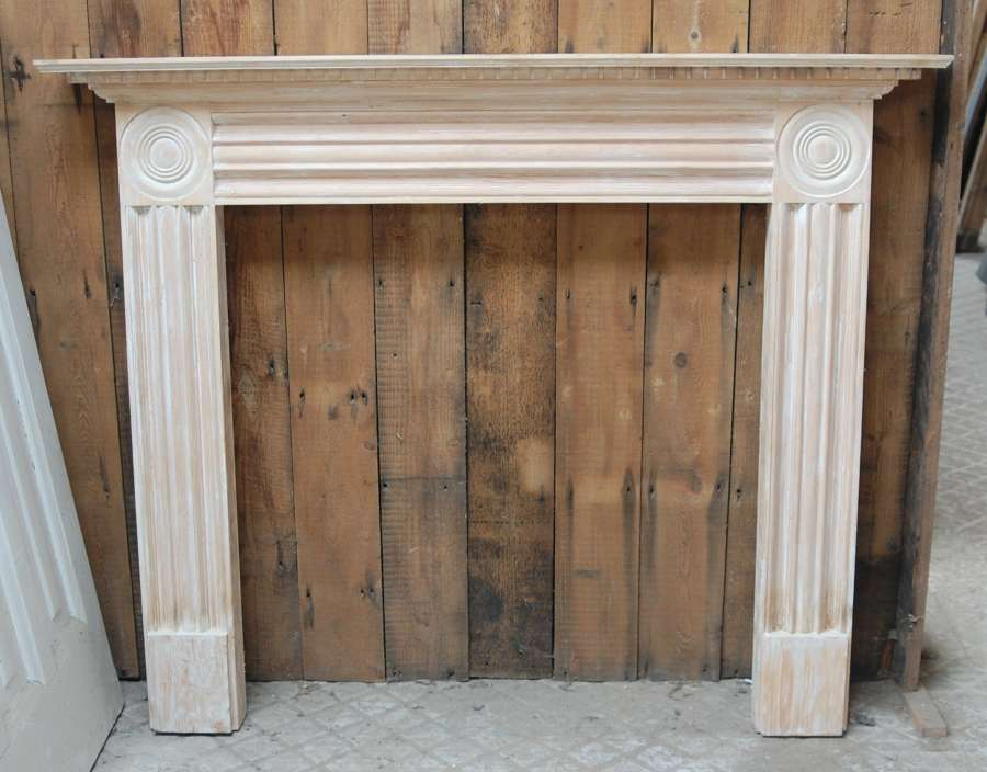 FS0113 A RECLAIMED MODERN DECORATIVE PINE FIRE SURROUND
