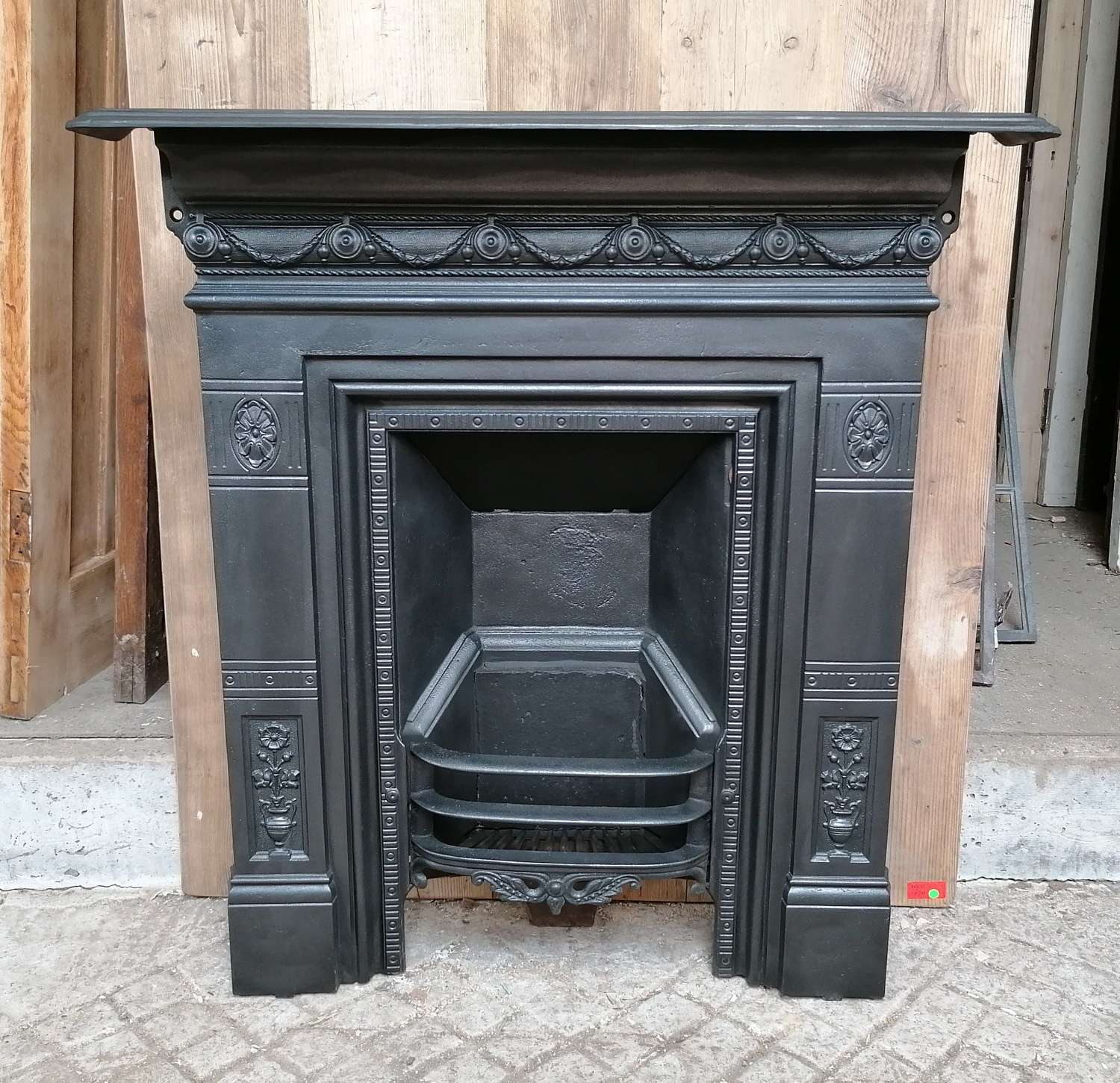 FC0095 AN ORNATE RECLAIMED LATE VICTORIAN COMBINATION BEDROOM FIRE