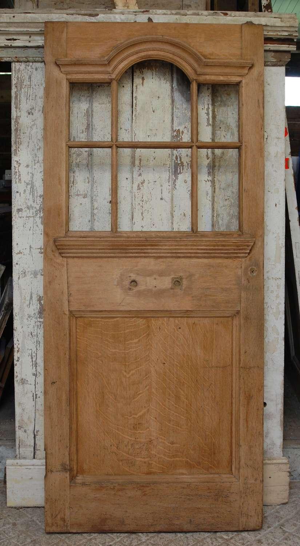 DE0859 A RECLAIMED EDWARDIAN OAK FRONT DOOR