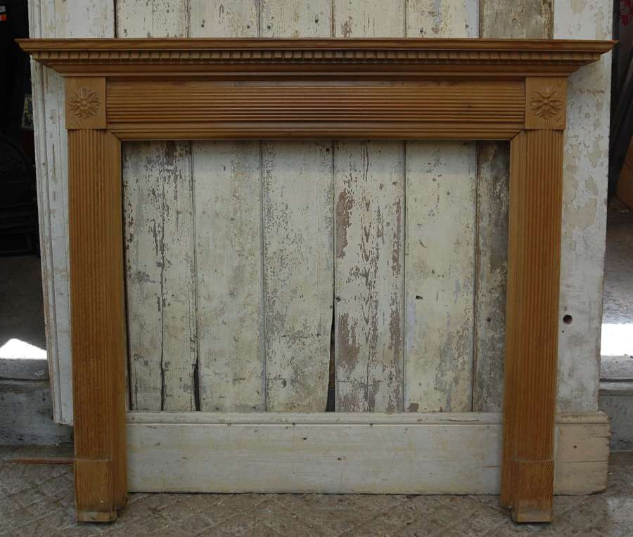 FS0124 A RECLAIMED DECORATIVE PINE FIRE SURROUND