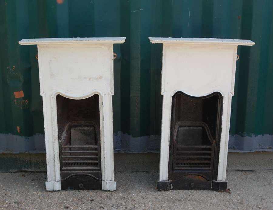 FC0101 PAIR OF ART DECO CAST IRON COMBINATION FIRES FOR RESTORATION