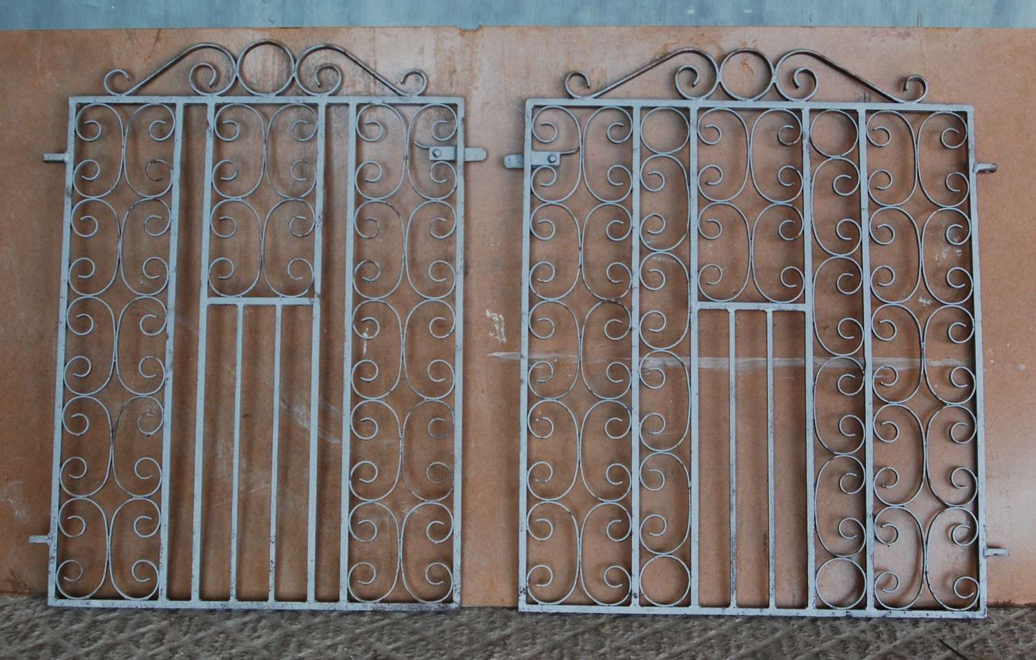 M1422 TWO RECLAIMED METAL GARDEN GATES COULD BE A PAIR