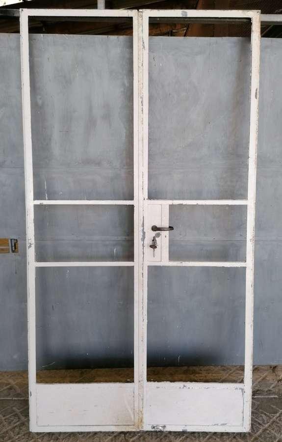 DI0721 PAIR OF RECLAIMED UNRESTORED INTERNAL CRITTALL DOORS