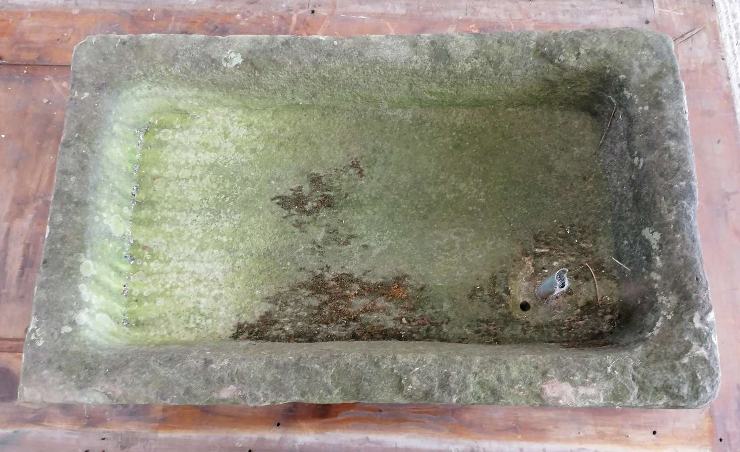 M1427 ANTIQUE RECLAIMED WEATHERED STONE SINK / TROUGH / PLANTER