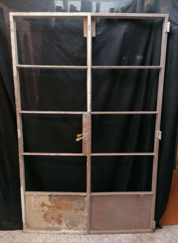 DP0298 PAIR OF RECLAIMED UNRESTORED INTERNAL CRITTALL DOORS