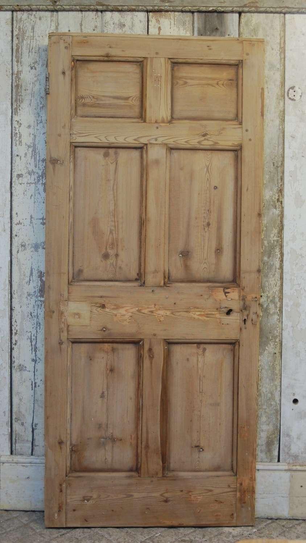 DI0731 AN ORIGINAL GEORGIAN STRIPPED PINE INTERNAL DOOR