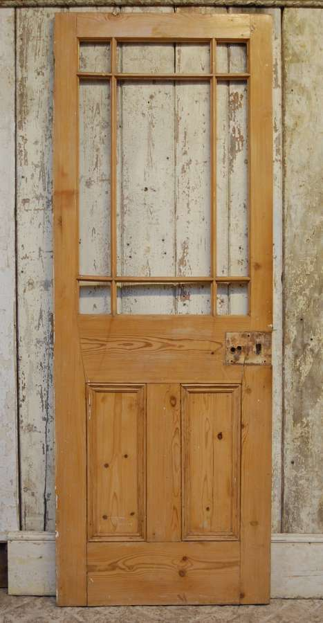 DI0733 A RECLAIMED PINE CARDIFF INTERNAL DOOR FOR GLAZING
