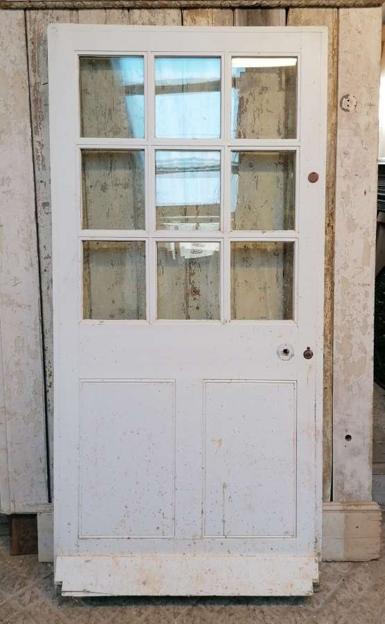 DB0685 RECLAIMED GLAZED PINE COTTAGE DOOR INTERNAL / EXTERNAL