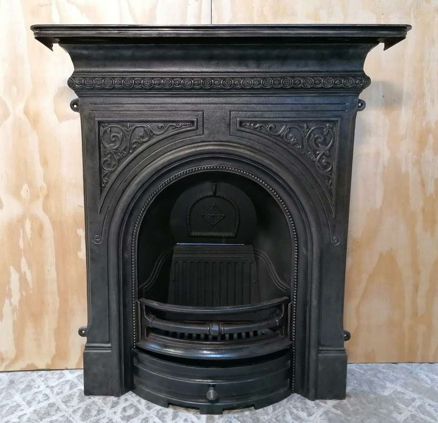 FC0115 ATTRACTIVE RECLAIMED REPRODUCTION CAST IRON COMBINATION FIRE