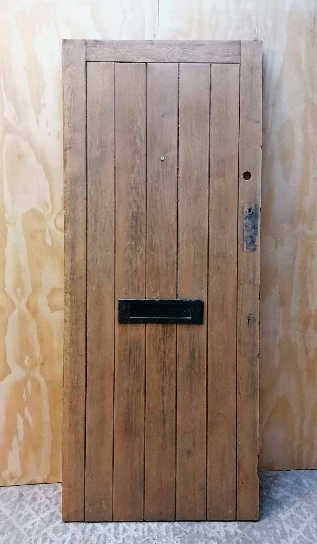 DE0870 A RECLAIMED STRIPPED OAK PLANK FRONT / EXTERIOR DOOR