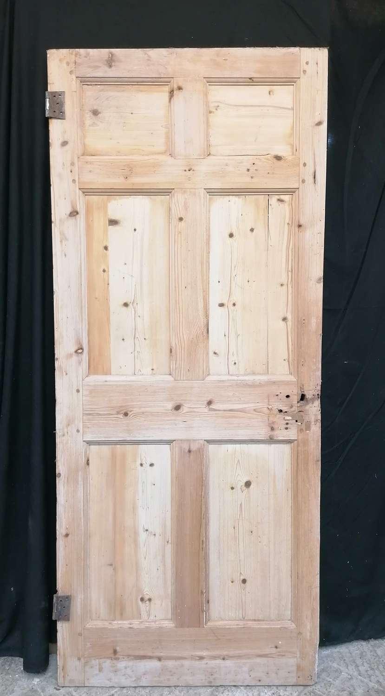 DI0737 ORIGINAL GEORGIAN STRIPPED PINE 6 PANEL INTERNAL DOOR