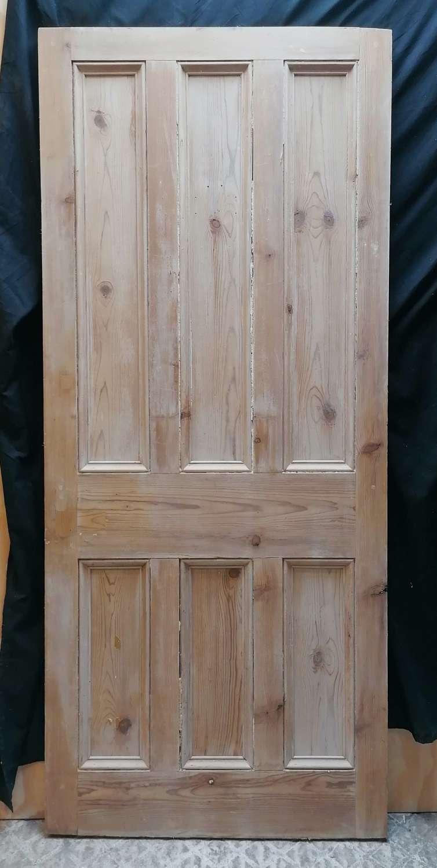 DI0738 LATE VICTORIAN STRIPPED PINE 6 PANEL INTERNAL DOOR