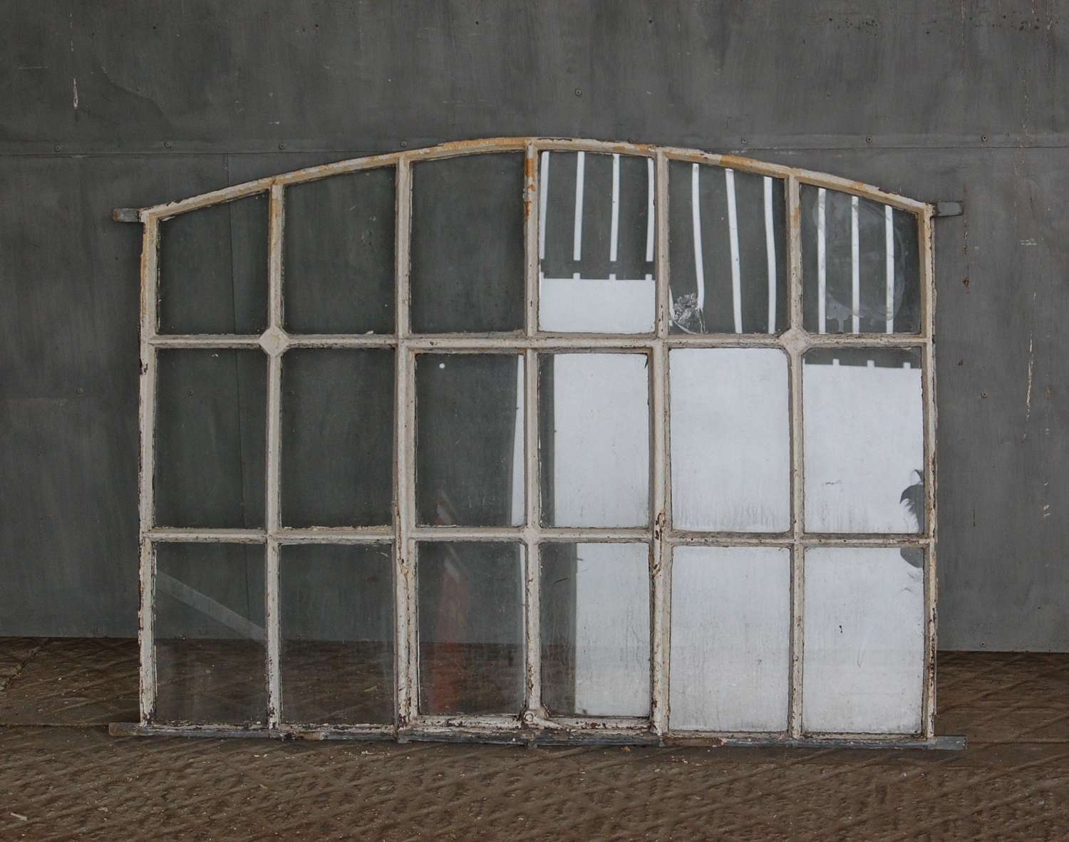 M1466 A LARGE VICTORIAN RECLAIMED CAST IRON WINDOW