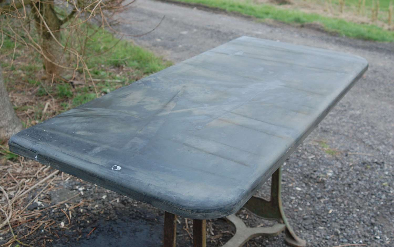 M1467 RECLAIMED SLATE SLAB FOR TABLE TOP / HEARTH / KITCHEN WORKTOP