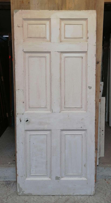 DB0688 LATE GEORGIAN 6 PANEL PAINTED PINE INTERNAL / EXTERNAL DOOR