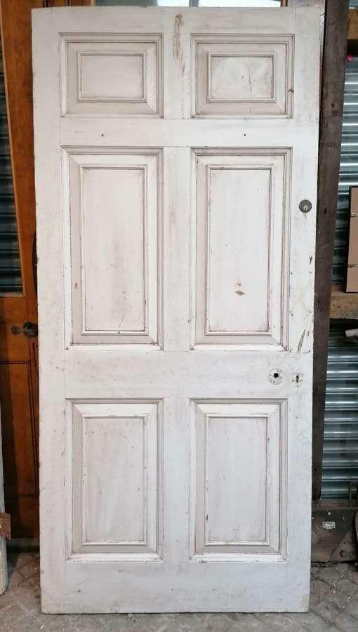 DB0690 LATE GEORGIAN 6 PANEL PAINTED PINE INTERNAL / EXTERNAL DOOR