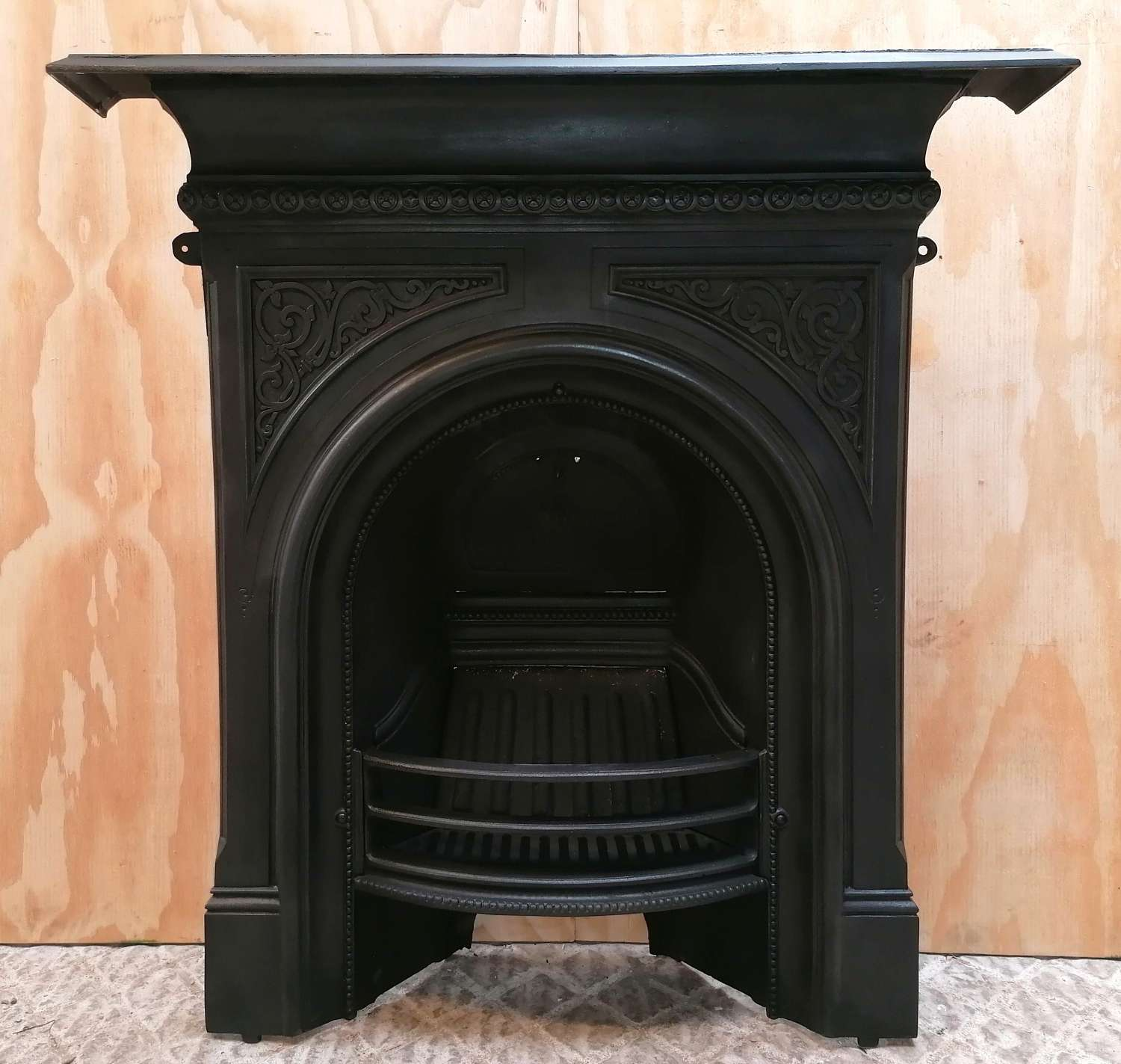 FC0118 ATTRACTIVE RECLAIMED VICTORIAN CAST IRON COMBINATION FIRE