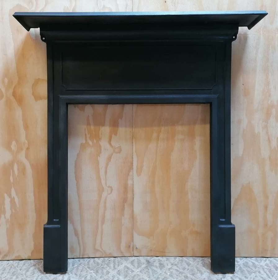 FS0141 RECLAIMED EDWARDIAN CAST IRON FIRE SURROUND FOR WOOD BURNER