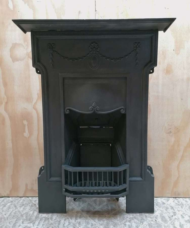 FC0117 ATTRACTIVE EDWARDIAN CAST IRON BEDROOM COMBINATION FIRE