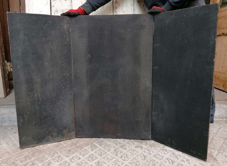 FX012 3 LARGE RECLAIMED CAST IRON FIRE PANELS / PLATES FOR FIREPLACE