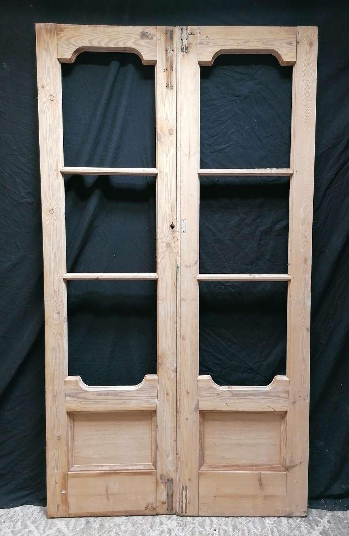 DP0309 PAIR OF VERY PRETTY EARLY VICTORIAN PINE INTERNAL DOORS